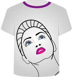 T shirt template- glamor model vector