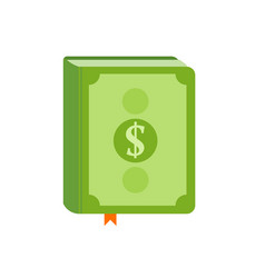 Book with symbol of money on the cover best vector