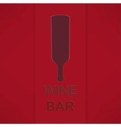 Wine List Menu Card Design template vector image