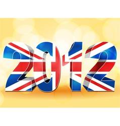 2012 union jack vector image