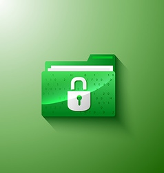 Secure privacy folder vector