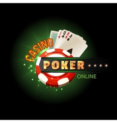 Casino poker online poster vector