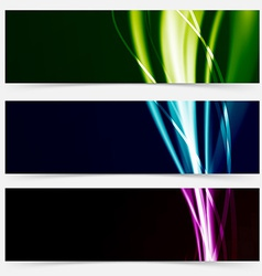 Colorful header collection speed futuristic line vector image