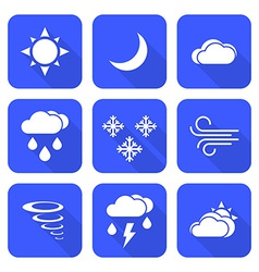 Flat style solid white color weather forecast vector