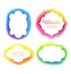 Watercolor frames vector