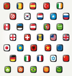 World flags icons vector
