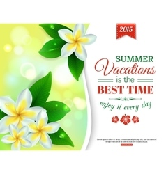 Summer shining typographical background with vector