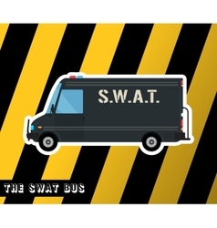 Swat police bus vector