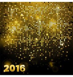 Sparkling gold mosaic 2016 vector