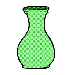Comic cartoon vase vector