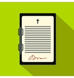 Testament letter flat icon vector