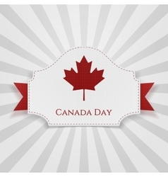 Canada day holiday badge with ribbon vector