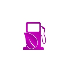 Gas station with leaves icon vector
