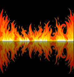 a bright flame in the night vector image vector image