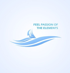 Boat and Beautifull Sea vector image vector image