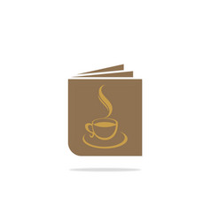 book menu coffee logo vector image