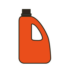 bottle plastic object vector image