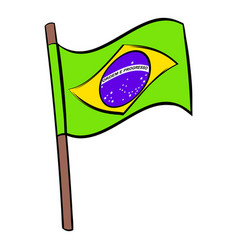brazil flag icon cartoon vector image