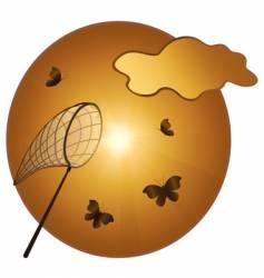 catching of butterflies vector image vector image