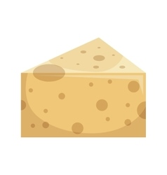 cheese delicious portion isolated icon vector image