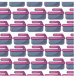 Cleaning brush pattern background vector