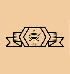 coffee icon vintage retro vector image