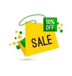 Colorful advertising sale banner 50 percent off vector image