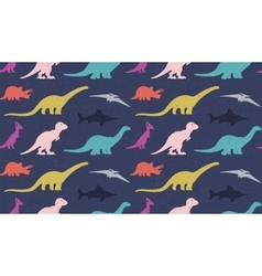 Dinosaurs silhouettes on white background vector