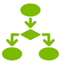 Flowchart icon from commerce set vector