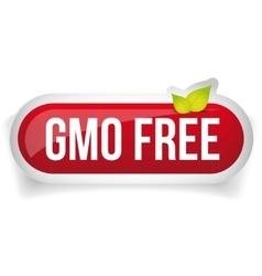 GMO free icon button vector image