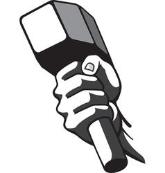 Hammer in hand vector
