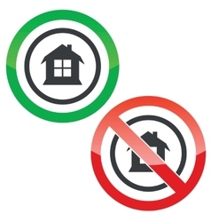 House permission signs vector