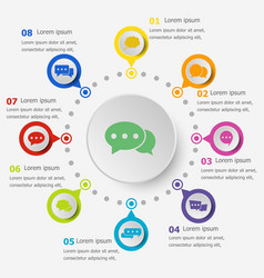 Infographic template with speech bubble icons vector