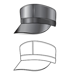 leather cap vector image