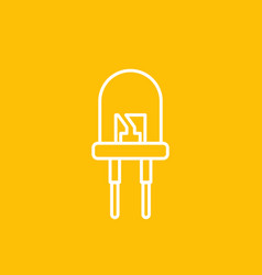 Light emitting diode icon linear style vector