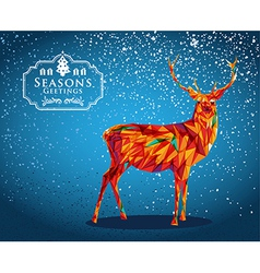 Merry Christmas reindeer shape vector image