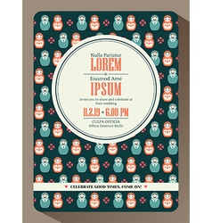 Modern hipster wedding invitation card design vector