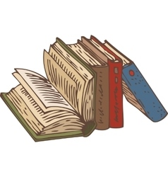 Row of Books vector image