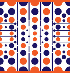 seamless pattern of colored circles with lines vector image