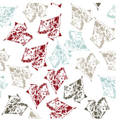 seamless pattern with leaves on white background vector image