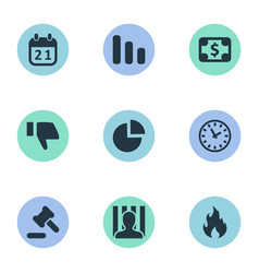 Set of simple trouble icons vector