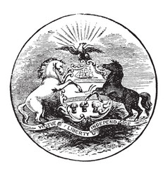 The official seal of the us state of pennsylvania vector