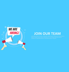 We are hiring banner join our team vector