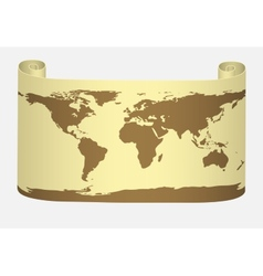 World map on parchment vector image