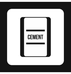 Bag of cement icon simple style vector