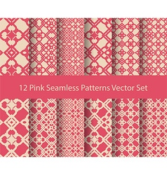 12 seamless pattern set vector image vector image