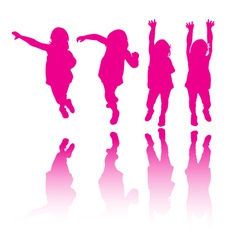 Little girl modeling or dancing vector image