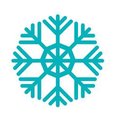 Snowflake winter symbol vector