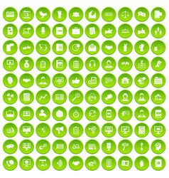 100 dialog icons set green circle vector