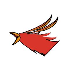Phoenix head legend creature beast image vector